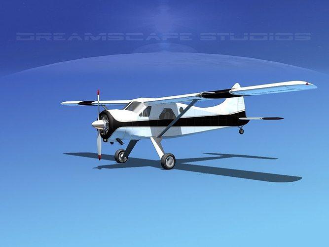 dehaviland dh-2 beaver sl01 3d model max obj mtl 3ds lwo lw lws dxf stl 1