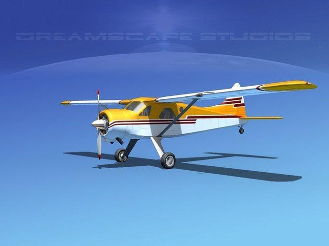 dehaviland dh-2 beaver sl12 3d model max obj 3ds lwo lw lws dxf stl 1