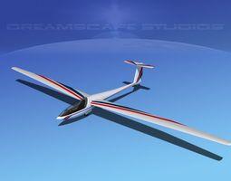 dg-400 15-metre motorglider v01 3d model rigged