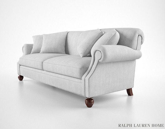 ralph lauren sofa 3d model max obj fbx mtl 1 ...
