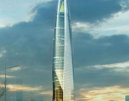 Skyscraper Office Building tile 3D model