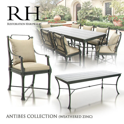 Restoration Hardware   Antibes Collection 3D Model