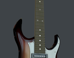 classic electra guitar 3D model