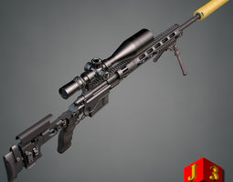 Remington XM2010 sniper rifle 3D model