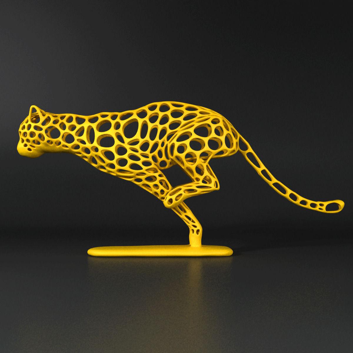 Cheetah Voronoi Wireframe