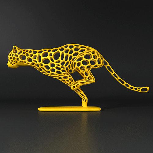 cheetah voronoi wireframe 3d model stl 1