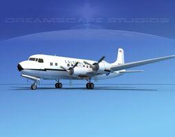 3D Douglas DC-6 Colonial Airlines