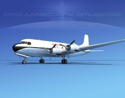 Douglas DC-6 Everts Air Fuel 3D model