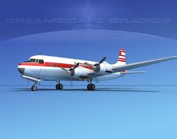3D model Douglas DC-6 Sterling
