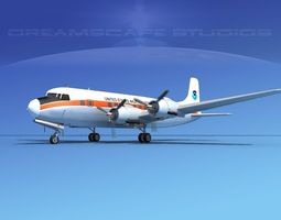 Douglas DC-6 US Weather Bureau 3D Model