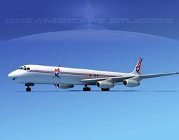 Douglas DC-8-63F MK Air Cargo 3D