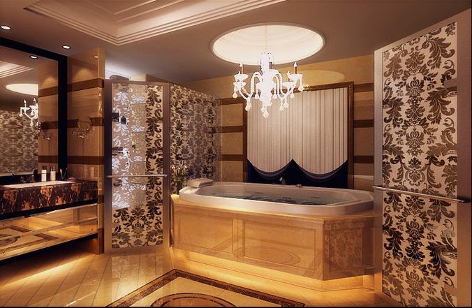 Grand bathroom interior 3d model cgtrader for Grand designs 3d renovation interior