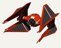 3D Royal Guard TIE Interceptor