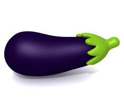 3D model Eggplant