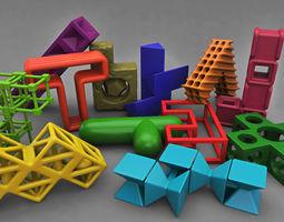 Pentomino mind bending game 3D Model