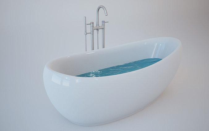 3d model bath tub bathroom cgtrader for 3d bathroom models