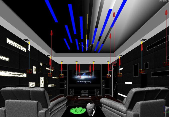 Home theatre 114 3d model max Home 3d model