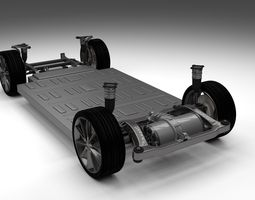 tesla model s chassis 3d