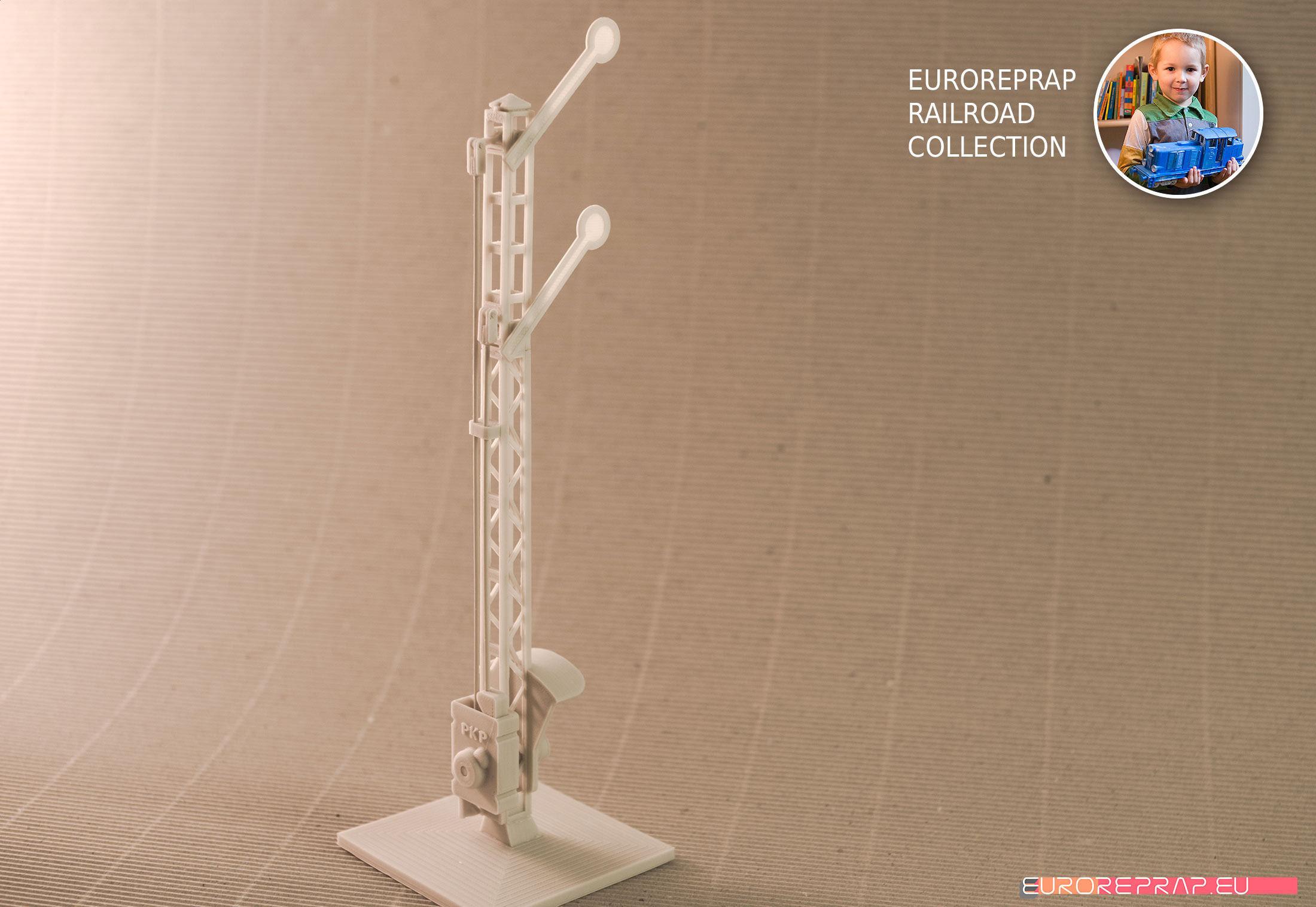 Semaphore-01 for Euroreprap Railroad System - 3D printable