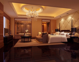Bedroom or Hotel Room Photoreal bedroom 3D model