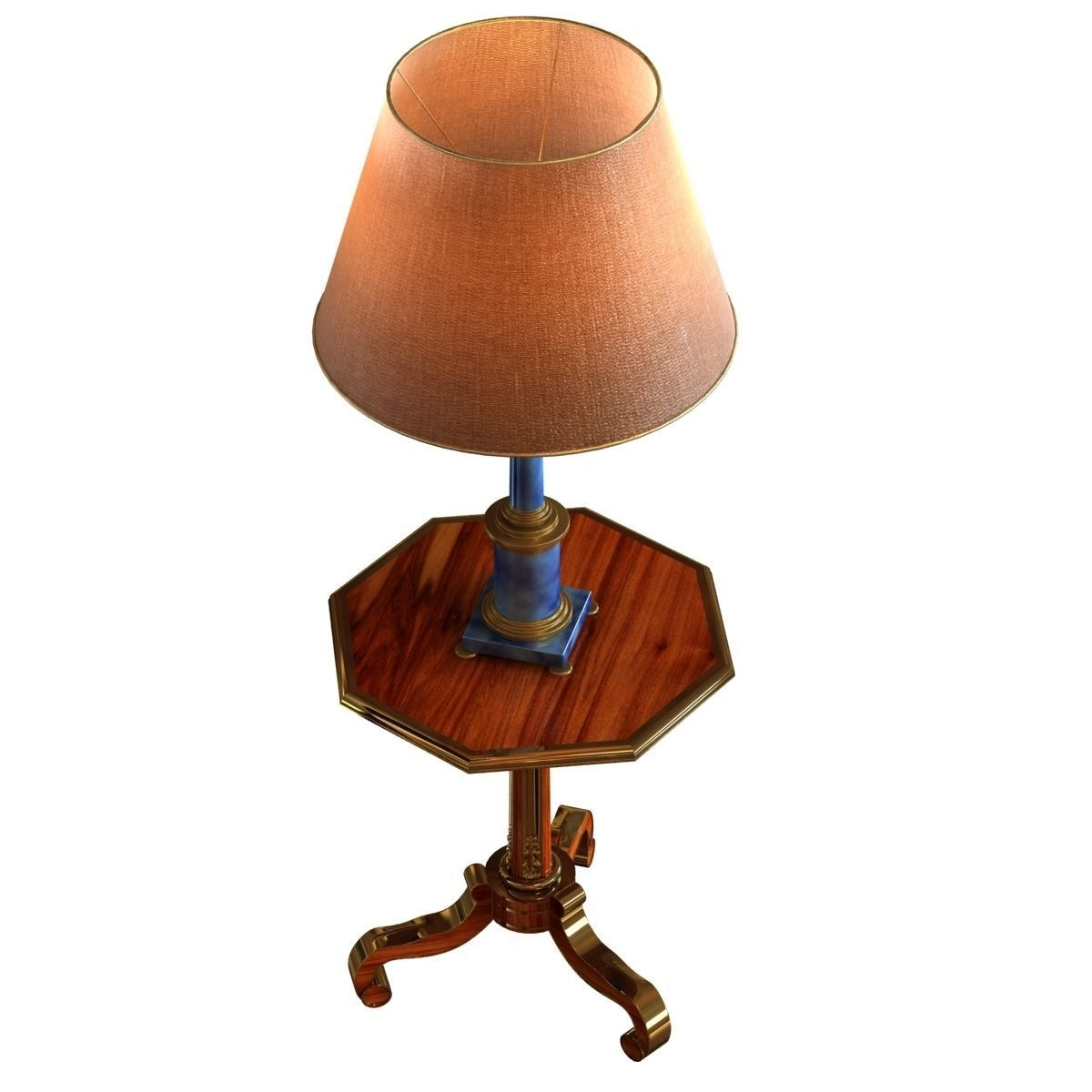 Neoclassical lamp on classic side table 3d model max obj for Side lamp table