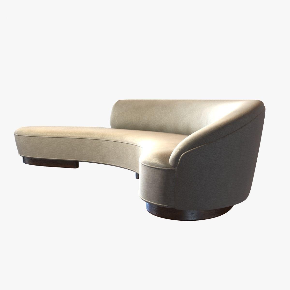 vladimir kagan freeform curved sofa with arm 3d model max obj 3ds fbx cgtrader
