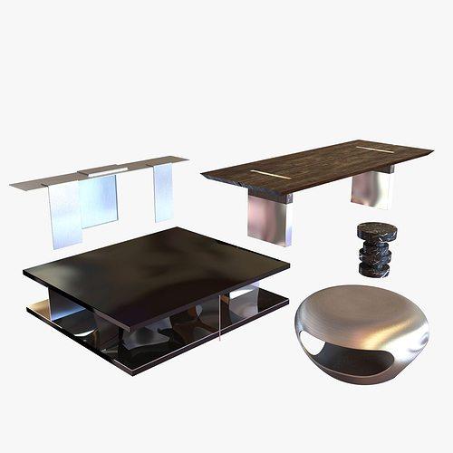 tables collection 3d model max obj mtl 3ds fbx 1