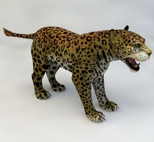 jaguar animated 3d model max c4d 1