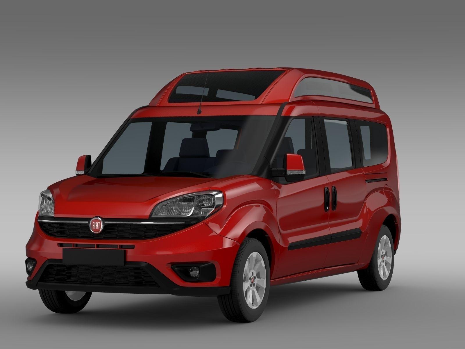 models maxi doblo suv fbx lw lwo model car cgtrader lws max highroof fiat obj