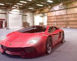 3D model Lamborghini Avendator Car