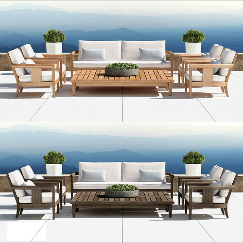 Restoration Hardware   Coronado Collection 3d Model Max Obj Fbx ...