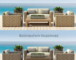 restoration hardware - rutherford collection 3d model
