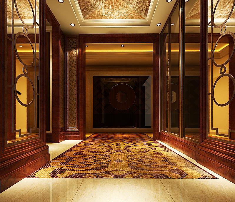 Room Hallway 137 3d Model Max