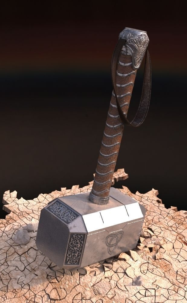 3d hammer of thor cgtrader