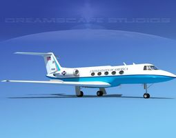 3D model Grumman Gulfstream C-II US Government