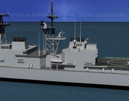 3D model Kidd Class Destoyer DDG 995 USS Scott