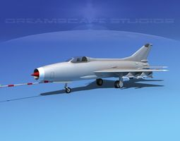 rigged mig-21 fishbed bare metal 3d model