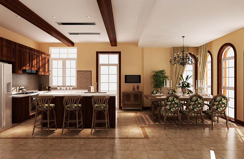 Kitchen room set 3D Model .obj .3ds .fbx .blend .dae .mtl ...