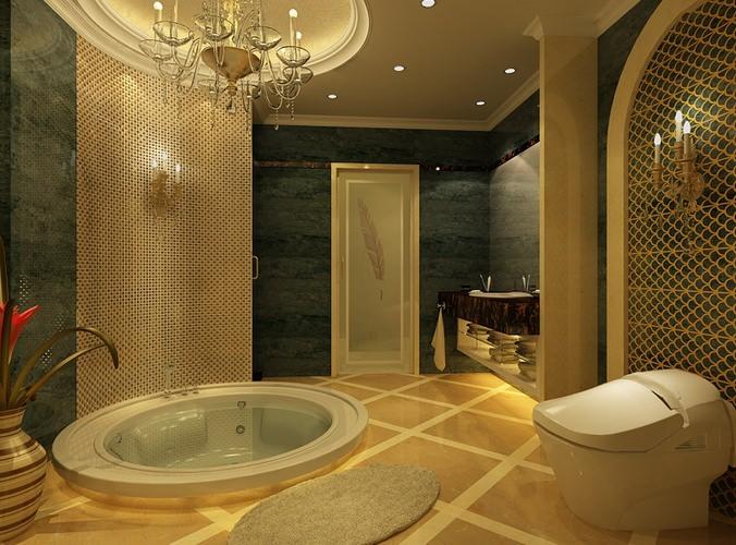 Bathtub bathroom 3d model cgtrader for 3d bathroom models