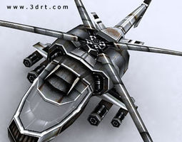 3drt - sci-fi forces - helicopter 1  3d model low-poly