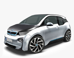 game-ready 3d asset bmw i3