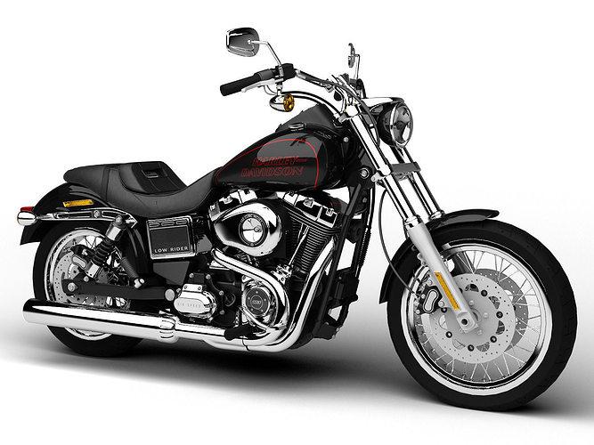 harley-davidson fxdl dyna low rider 2015 3d model max obj mtl 3ds fbx c4d dxf 1