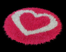 carpet  heart 3d model max