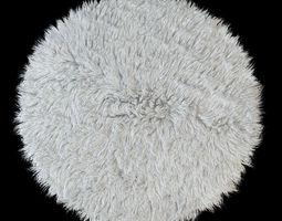 round rug flokati 3d