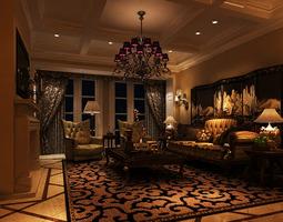 Living room 3D living-room
