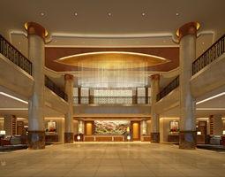 3d model lobby 035