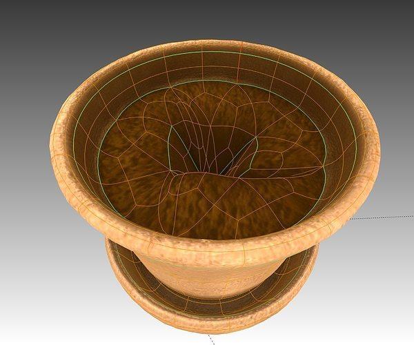 3d model flower pot full with soil cgtrader for Soil 3d model