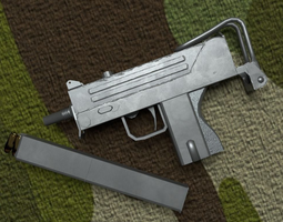 mac-10 rigged realtime 3d model