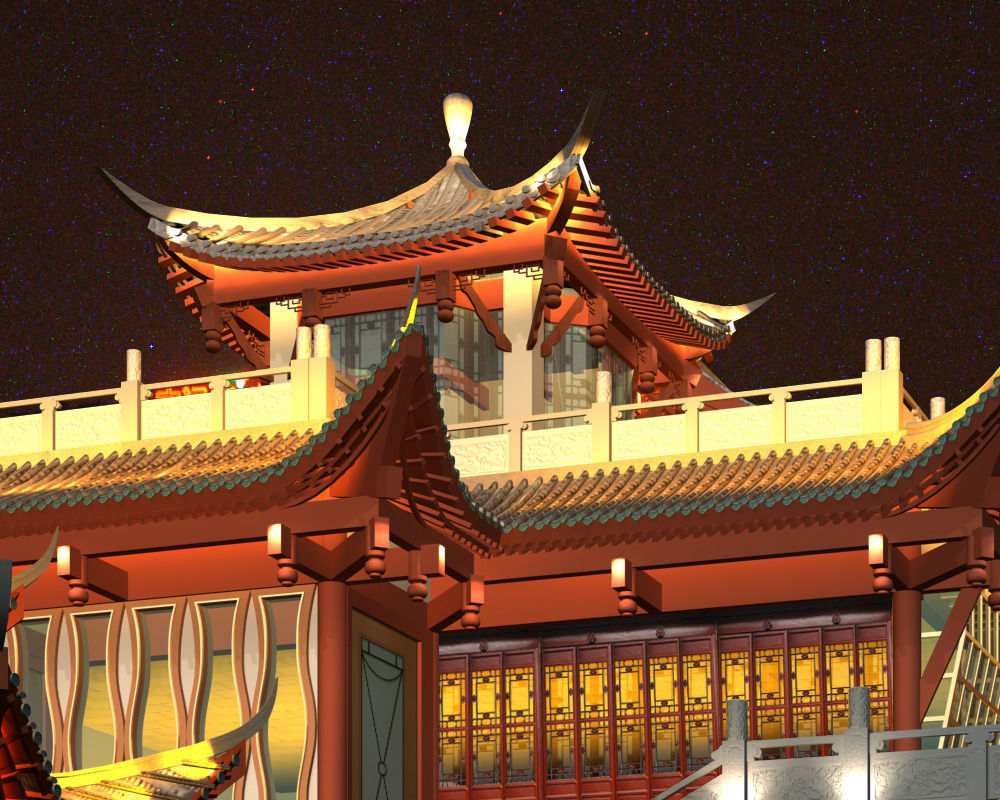 Anshun China  city photos gallery : China ancient birdge AnShun bridge nigh... 3D Model MAX 3DS ...