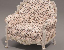 Classical armchair 3D model